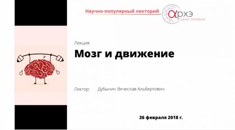 """""""Мозг и движение"""" Вячеслав Дубынин"""