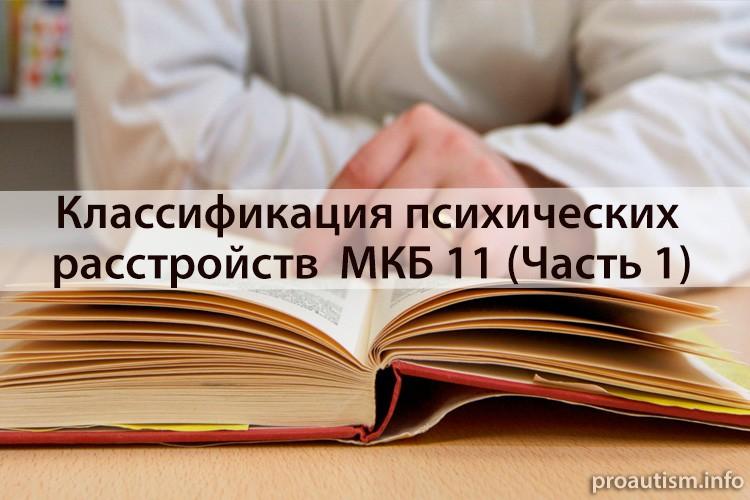 Классификация психических расстройств МКБ-11