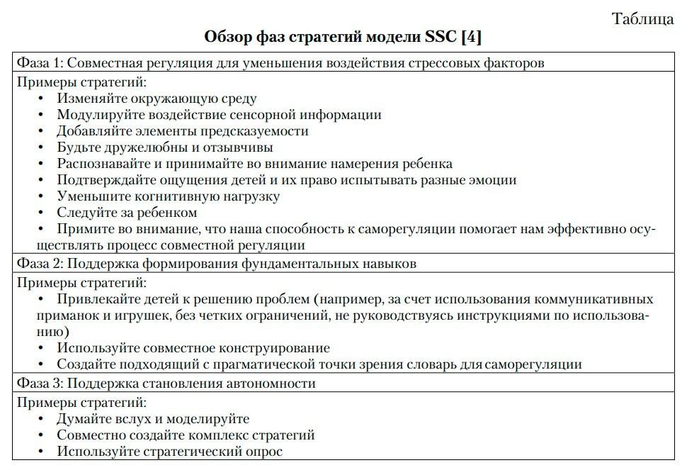 Обзор фаз стратегий модели SSC [4]