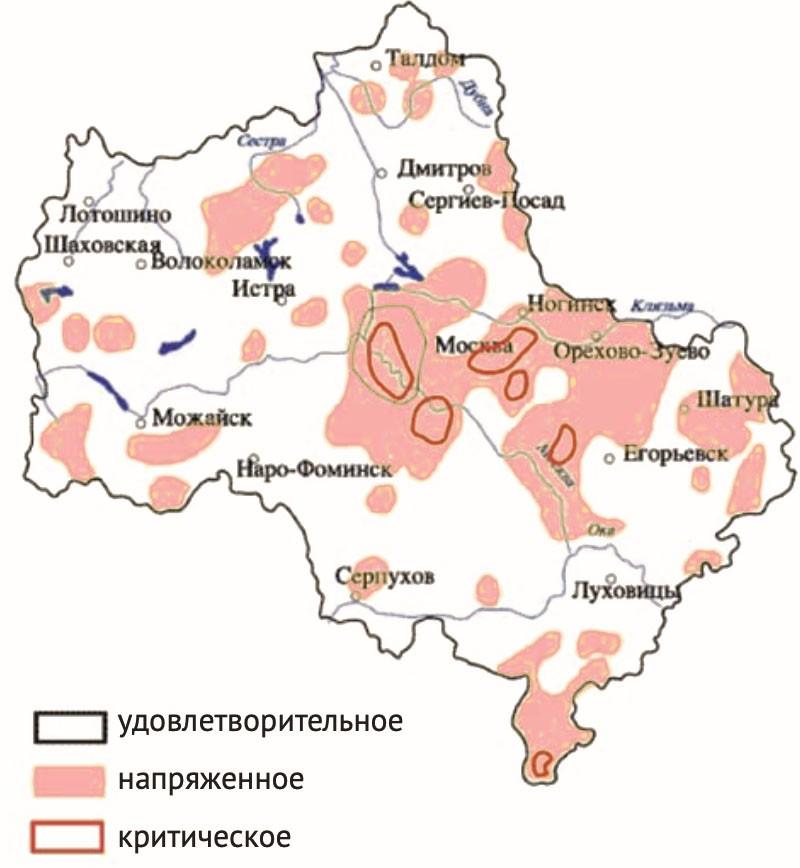 Состояние загрязнения почв Москвы и Московской области